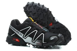 2019 Саломон Мужская обувь Zapatos хомбре скорость по пересеченной 3CS III для спорта кроссовки мужчин черный открытый спортивные модели Speedcross Соломон кроссовки тренер от