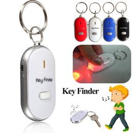 2019 boa namorada presentes de natal 4 Cores LED Apito Key Finder Com Detector de Detector de Chaveiro Evitar Chave Perdido Indutor Apito Controle de Som
