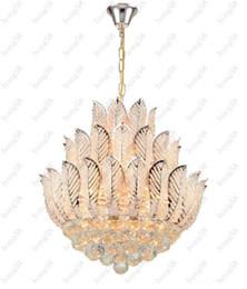Wholesale Lotus Led Chandelier - Hot ly Lotus Flower Gold Crystal Pendant Chandelier For Dining Room Bedroom Hotel Shop ;Crystal Modern Chandelier Free Shipping
