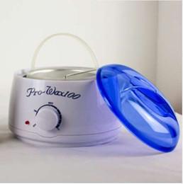manos máquina de spa Rebajas Warmer Wax Heater Professional SPA Hands Feet Máquina de cera de parafina Control de temperatura Kerotherapy Depilatory With Blue Lid EU