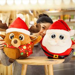 Wholesale C7 Bulb Christmas Lights - LED Glowing Christmas Santa Claus Plush Toys Doll Music LED Snowman Lighting Christmas Ornaments Decoration For Home Xmas New Year Kids Gift