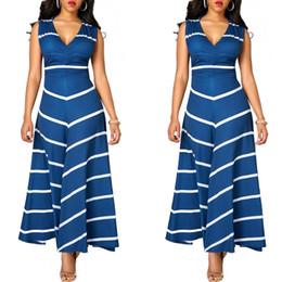 amerikanisches indisches kleid Rabatt 2017 Pakistan Frauen Kleidung Indische Sari Kleider Baumwolle 2017, Heiße Neue Europäische Und Amerikanische Mode Streifen Burst, Sexy Kleid