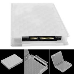 пластиковый футляр для жесткого диска Скидка Жесткий диск SSD HDD защита ящик для хранения случае ясно PP пластик 2,5 дюйма