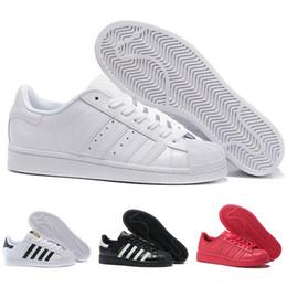 дешевые юниоры Скидка adidas Originals Stan Smith Superstar 80s дизайнер повседневная обувь оригиналы Белый голограмма радужные Юниор 80-х годов гордость кроссовки женщины мужские квартиры спортивные кроссовки 36-44
