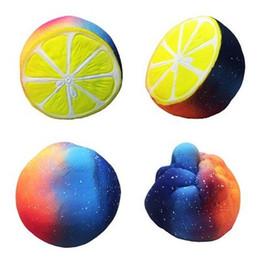 Wholesale lemon toy - Jumbo 12cm Sky Lemon Squishy Toy Squeeze Slow Rebound Decompression Toy Home Decor Phone Charms Pendant Kids Toys Gift