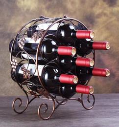 Canada Porte-bouteilles de vin en fer européen européen 7 bouteilles Porte-bouteilles de vin rouge Porte-bouteilles de vin Barware stockage organisateur affichage cadeau Offre