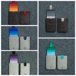 Sacs plastifiés en Ligne-5 couleurs DAX laminé drawcard sac dazzle couleur gradient carte à puce sac ultra-mince bagage à main portefeuille pour hommes et femmes GGA515 30PCS