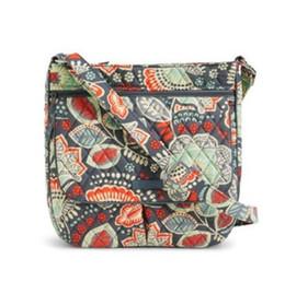 Sacos de sacos de flores on-line-NWT Duplo Zip Mailbag Cruz corpo Flor Bolsa De Ombro Bolsa Satchel Mensageiro