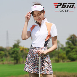 22a95cd8355 Branded Sports Wear Online Shopping - PGM Golf T-shirt For Women Polyester  Standing Collar
