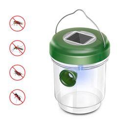 luz solar eco Rebajas Wasp Trap, Not-Toxic Wasp Trap Catcher, Reutilizable Solar Powered Fly Trap con luz ultravioleta LED Waterproof para atrapar abejas, Wasps,
