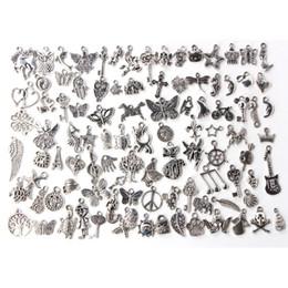 2019 configuración de la joyería de oro 14k Estilos mixtos de plata tibetana joyería plateada hallazgos colgantes para el arte de la joyería hechos a mano DIY encantos pulsera accesorios 100pcs / lot