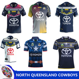 Wholesale black cowboy shirt - North Queensland Cowboys rugby Jerseys 2018 home away Jersey NRL National Rugby League nrl Jersey Australia shirt s-3xl