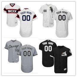 Wholesale Bill White Baseball - custom Men's Majestic Chicago White Sox #00 Your Name 14 Bill Melton Authentic Black Team Logo Fashion Cool Base Jersey
