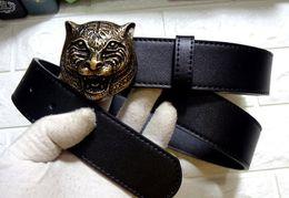 6676f5274 Top qualidade 38mm Cinto Da Marca De Couro Da Liga Tigre Cinto de Fivela  Para Mulheres Dos Homens Com Pacote de Presente embalagem de tigre barato