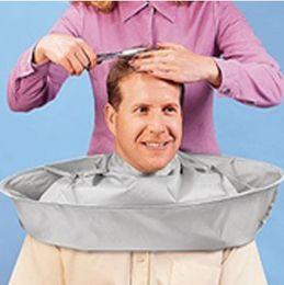 Wholesale hair salon aprons - 60cm Creative Apron DIY Hair Cutting Cloak Umbrella Cape Salon Barber Salon And Home Stylists Using Hair Cutting Capes Clothes