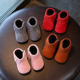 Wholesale Leather Shoes For Girls - 2018 wengkicks fashion design leather shoes for girls with 4 colors baby hot selling shoes good quality