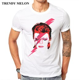 Wholesale Trendy Shorts Tops Wholesale - Trendy Melon New T-Shirt Men David Bowie Short Sleeve T shirt Fashion Summer Tee Shirts Hipster Funny Tops MD05