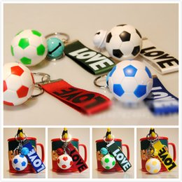 Wholesale wholesale keychains cheap - Wholesale Cheap High Quality Hot 2018World Cup Football Keychain LOVE Letter Printing Alloy Key Chain Football Key Chains