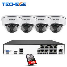 cctv sistemas dome exterior Desconto H.265 8CH POE NVR CCTV Sistema de Câmera IP POTE de 4MP 2592 * 1520 IR Night Vision Impermeável Vandalproof Video Security Surveillance Kit