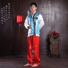 hanbok tradicional coreano Rebajas Disfraces hanbok coreano Hombre Vestido tradicional coreana Nacionales de Corea del hombre de la boda traje tradicional ropa de la ropa étnica masculina