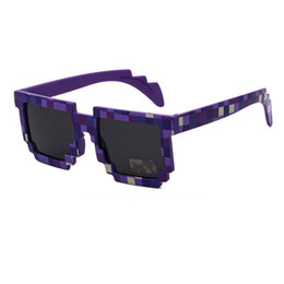 Wholesale eyeglasses child - Fashion Kids Sunglasses Mosaics Square Children Sun Glasses Boys Girls Pixel Eyewears Christmas Birthday Gift Child Sunglasses eyeglasses