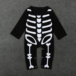 2020 trajes assustadores Novidade Assustador Macacão de Osso Do Bebê Moda Infantil Crânio Macacão Horrível Crianças Conjunto de Roupas de Osso Halloween cospaly traje para Criança Meninas Meninos desconto trajes assustadores