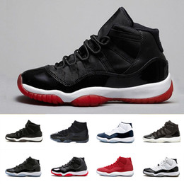 Wholesale premium white - Bred Prom Night Bred 11 Premium Heiress black gold Concord 11s Basketball Shoes Men Women Gym red Midnight Navy XI Georgetown sport Sneaker