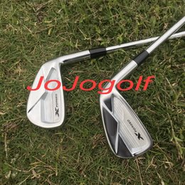 Wholesale Forge Club - high quality golf irons X forged irons set ( 3 4 5 6 7 8 9 Pw ) with original dynamic gold S300 steel shaft 8pcs golf clubs