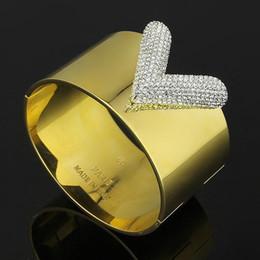 JewelryStore999 316L titanium aço carta cor branca de diamantes casal pulseira de ouro 18k senhoras de diamante pulseira de noivado largura 3 cm, 3.8 cm de Fornecedores de pulseira de olho mal cheio de ouro