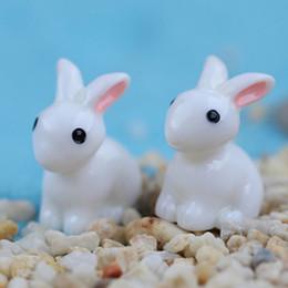 10pcs Mini coniglio animale in miniatura Fairy Garden Decoration Doll Home Artigianato Decor Ornament Toys da carta di terra fornitori