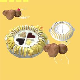 Máquina asada online-NUEVA cocina bricolaje máquina de cortar para hornear patatas fritas máquina horno de microondas asado papas fritas conjunto sartenes para hornear herramienta de cocina multifunción