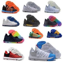 best website 68673 3de15 2018 Zoom KD 10 Anniversary University Red Still Kd Igloo BETRUE Oreo Men  Basketball Shoes USA Kevin Durant Elite KD10 Sport Sneakers KDX discount kd  elite ...
