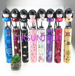 carino ragazza cartoon giapponese Sconti ragazza di stile giapponese ragazza cartone animato pieghevole ombrello signora soleggiato bambole di cartone animato carino ombrello bottiglia QW7853