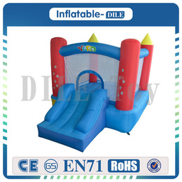Wholesale Bouncy Castles - Inflatable Jumper Bouncy Castle Nylon Bounce House Jumping House Trampoline Bouncer With Free Blower For Kids