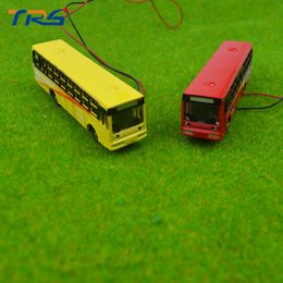 Wholesale Diecast Bus Toy - 1 150 scale model bus Toy Metal Alloy Diecast bus Model Miniature Scale for train layout scenery