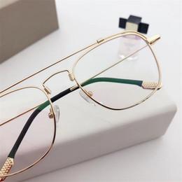 Deutschland Cubojue (148mm) Vintage Brille Männer Frauen Gold Schwarz Brillen Rahmen Mann Weiblich Verschreibungspflichtige Brille Diopter Brillen Versorgung