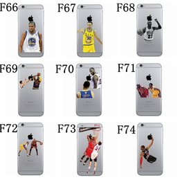 Wholesale Cool Iphone Phone Cases - Cool Customize Soft TPU basketball player design phone case for iphone 7 8 8plus 6s 6splus 5 SE