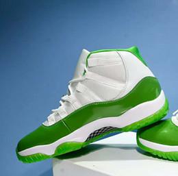 Manzana 13 online-Nuevo 11 XI Apple Green hombres zapatos de baloncesto deportes 11s zapatillas blancas zapatillas 2018 descuento nuevo buen tamaño exterior de alta calidad 7-13