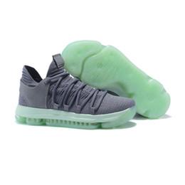 Scarpe calde kd online-2018 ZOOM KD 10 PE New Hot Kevin Durant X uomo Scarpe da basket Mid Nero Rosso Giallo Blu Verde Grigio Athletics Sneakers