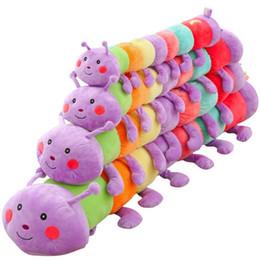 2019 brinquedos macios da lagarta Alta qualidade 1 pcs 70-130 cm dos desenhos animados Bonito inchworm caterpillar boneca de pelúcia bebê macio brinquedos de pelúcia crianças dormindo companheiro animal do bebê brinquedos macios da lagarta barato