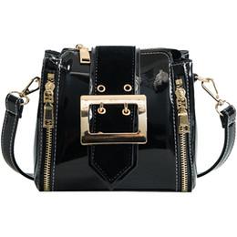 Fashion Women Messenger Bags Patent Leather Crossbody Shoulder Bags  Handbags Luxury Designer Female Mini Zipper Bag bolsos mujer 71fd77a9ab45d