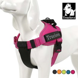 Wholesale medium duty - Truelove Pet Dog Collar Harness Vest Small Large Mesh Heavy Duty Reflective Harness Dog Pet Supplies For Dogs Dropshipping