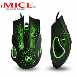 Wholesale New Gaming Mouse - 2017 New Estone iMice X9 Mouse 5000DPI Led Optical 6D USB Wired Professional Gaming Mouse for Computer PC Laptop Lol Dota 2 Game