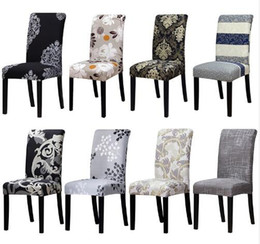 Wholesale chair coverings for weddings - Factory Direct Printing covers universal size Chair cover seat Chair Covers Protector Seat Slipcovers for Hotel banquet home wedding decorat