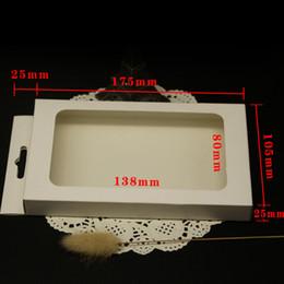 2019 kraft telefonzelle 175 * 105 * 25mm fenster box verpackung weiß kraftpapier telefonkastenkästen verpackung, paket window boxen Für handy fall günstig kraft telefonzelle