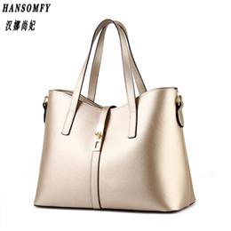 Wholesale Ms Cashmere - Han 100% Genuine leather Women Handbags 2017 New Paragraph tide Ms female bag big bag simple shoulder bag Handbag Messenger