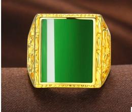 ) Agrafe en agate de jade naturelle incrustée de jaune Bague en or remplie d'or (7) Ouvrir la taille ? partir de fabricateur