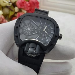 Wholesale American Clocks - 2018 high quality European and American hot wristwatches male business fashion watch two core silicon tape clocks and watches wholesale