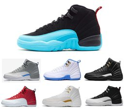 Wholesale rose cuttings - high quality 2018 men shoes 12 Basketball Shoes for men women taxi playoffs Gamma Blue black sport shoes 12s Sneakers size 7-13