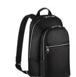 2018 горячие продажи хорошее качество pu кожаный рюкзак damier графит холст рюкзаки сумка 45*26*17 см Майкл N58024 мужская сумка мешок школы кошелек от